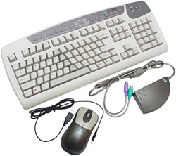 Cordless mouse and keyboard
