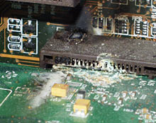 Toasted video card