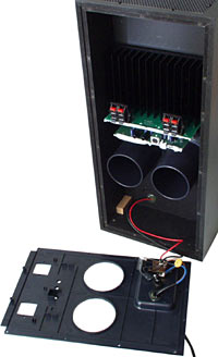 Subwoofer with back panel removed