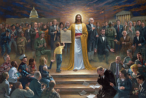 One Nation Under God, possibly the worst painting ever