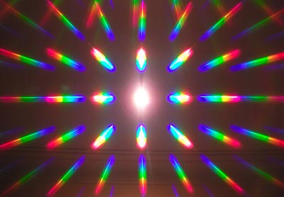 Halogen lamp diffraction