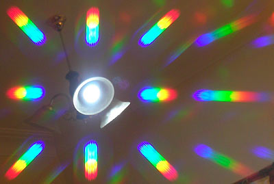 LED lamp diffraction
