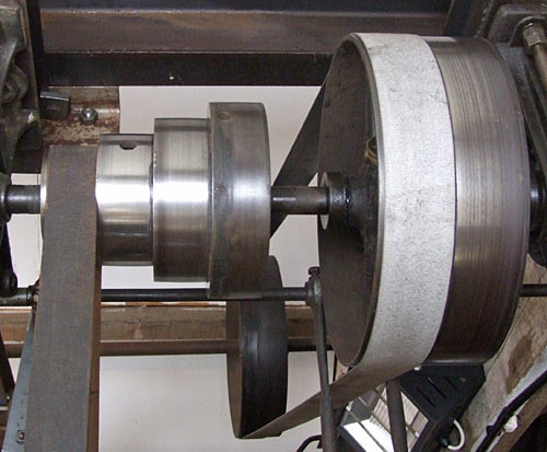 Stepped drive-belt pulley