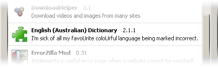 Australian English dictionary add-on for Firefox