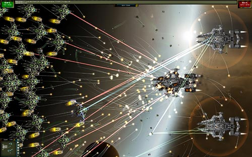 Gratuitous Space Battles zoomed in
