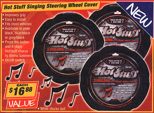 Singing steering wheel cover!