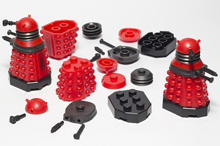 Character Building Lego-compatible Daleks