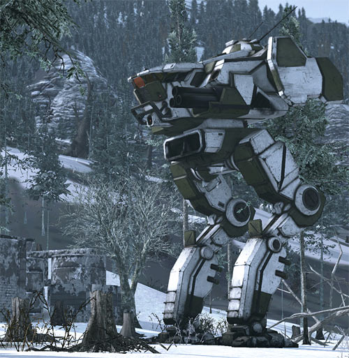 Sad 'Mech in snow