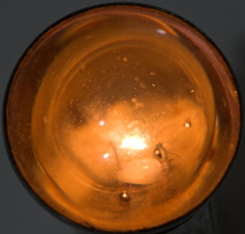 Old flashlight lens