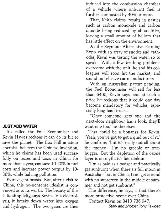 Nonsense from the RACV magazine.