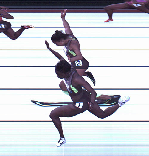 Photo finish image