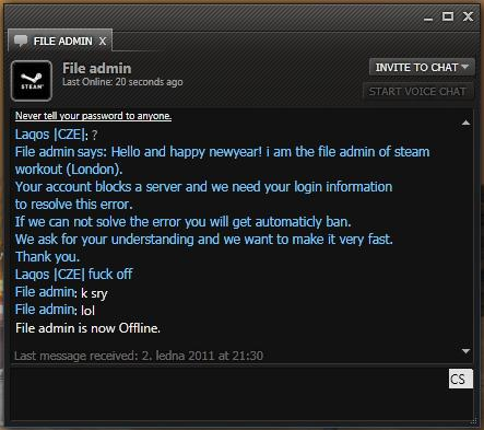 Implausible Steam chat-phish