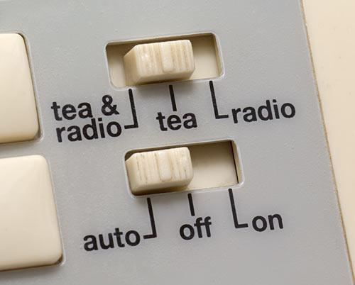 Teasmade controls