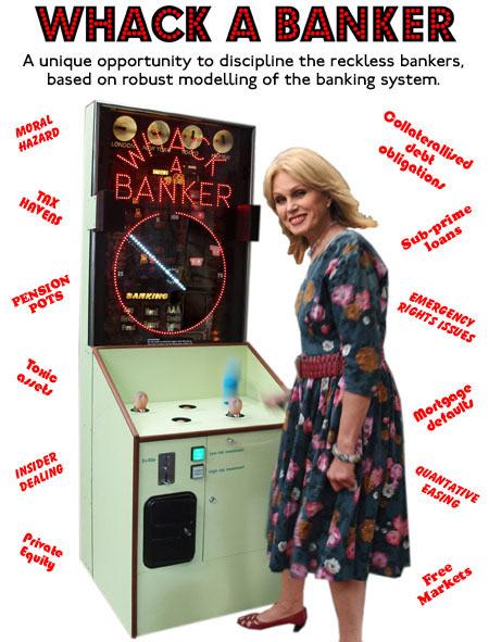 Whack A Banker machine by Tim Hunkin