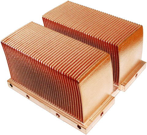 Skived heat sink