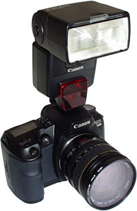 D60 with external flash
