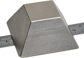 Truncated pyramid magnet