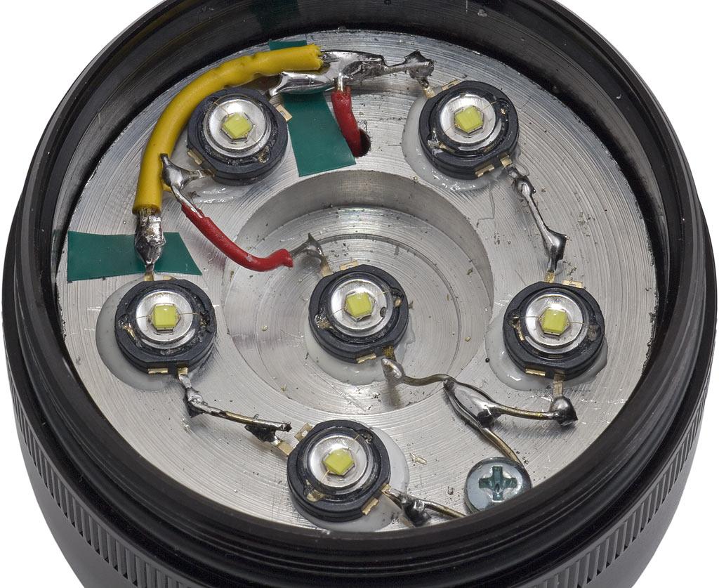 Review Elektro Lumens Tesla 6 Led Flashlight Schematic Application Rewired Array