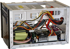 SFF PC interior