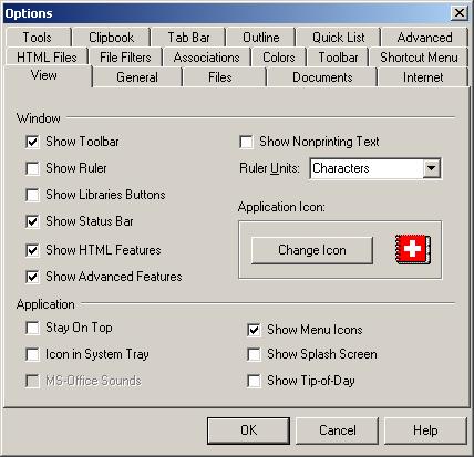 NoteTab setup window