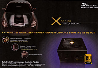 Seasonic racing-car PSU ad