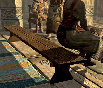 Skyrim wench almost sitting down