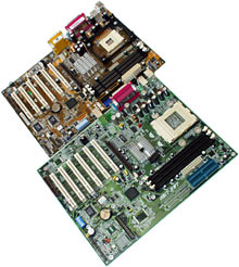 Asus and Abit i845 P4 motherboards