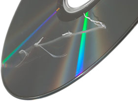 Extremely scratched CD.