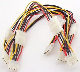 Chained Molex Y-adapters