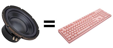 Speaker equals keyboard