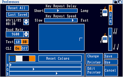 Amiga Workbench 1.3 Preferences