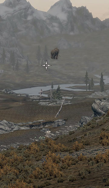 Aerial mammoth in Skyrim