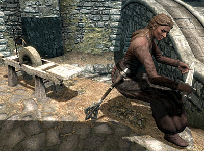Levitating blacksmith bottom in Skyrim