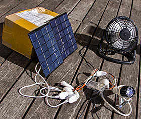 Solar USB electricity contraption