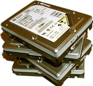 lots of hard drives