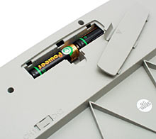 Keyboard battery bay