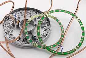 Rewired LED rings