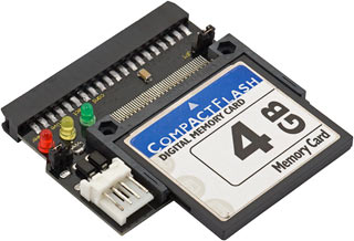 CompactFlash card in ATA adapter