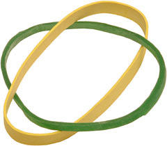 Rubber band comparison