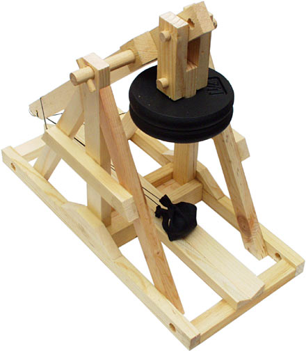 Tabletop Floating Arm Trebuchet Plans